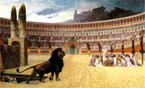 cristianos en el circo romano