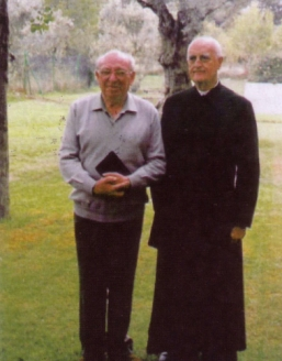 P.Alba con Rafael Stern en el Colegio Corazón Inmaculado de