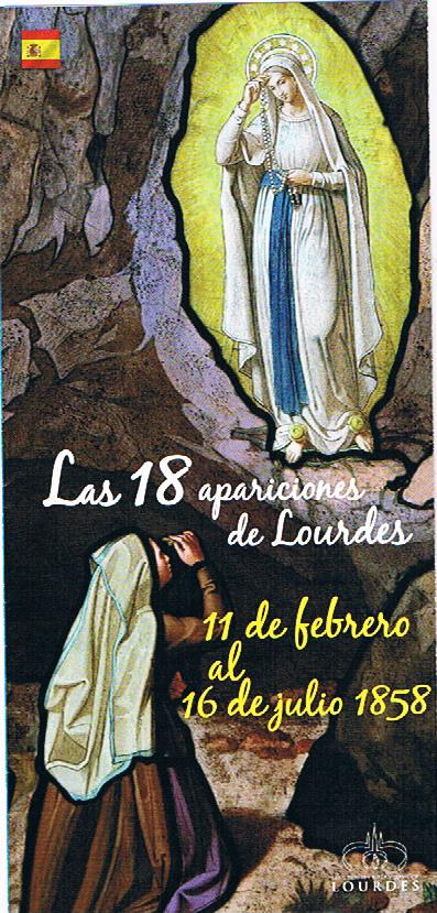 las 18 apariciones de Lourdes