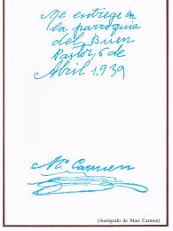 Autografia de Mari Carmen - 7