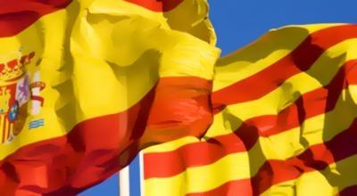 bandera cataluña y españa 454454