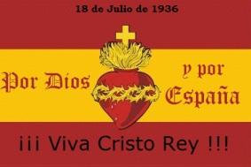 Bandera Española ¡Viva Cristo Rey!