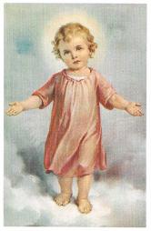 Niño Jesús sobre las nubes