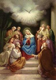 Espíritu Santo - Virgen María y Apóstoles