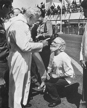 John Paul II and Fr. Ernesto Cardenal, S.J.