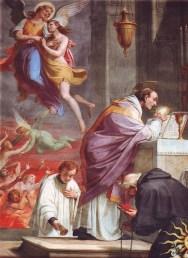 La Santa Mira salva las almas del purgatorio