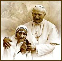 Dos santos Juan Pablo II y Madre Teresa de Calcuta