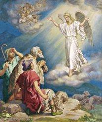 El Ángel anuncia a los pastores la venida del Salvador