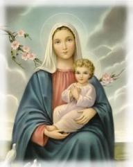 La Virgen María con el Niño Jesús en brazos