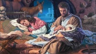 Sagrada Familia - San José con el Nño en brazos