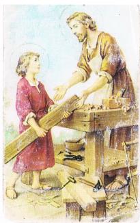 San José carpintero y Niño Jesús
