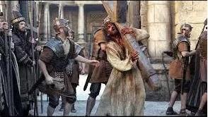 Jesús con la Cruz acuestas