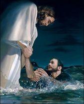 Jesucristo salva a Pedro