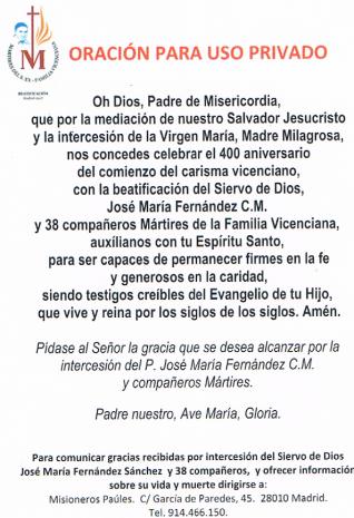 Oración P. José Mª Fernández