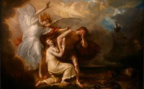 Adán y Ea expulsados del Paraiso terrenal