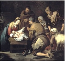 Gozo de verle adorado por pastores