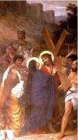 María dolor de ver a Jesús la Cruz acuestas