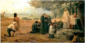 San Misa en la conquista de América