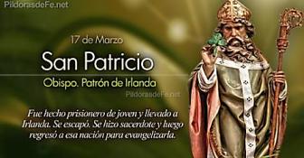 San Patricio Obispo. Patrón de Irlanda