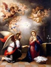 La Anunciación y los Ángeles
