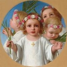 Niños dando gloria a Dios