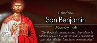 San Benjamín - Diácono y mártir