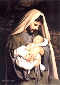 San José con el Niño en brazos