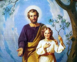 San José - Niño Jesús con rama de olivo