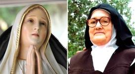Virgen de Fátima y Sor Lucia
