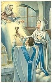 Virgen María y Sacerdote