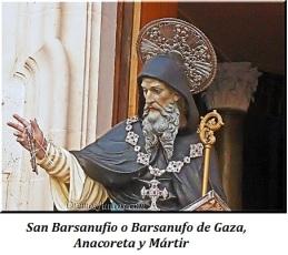 San Barsanufio de Gaza - Anacoreta y Mártir