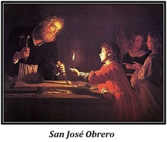 San José Obrero - Alumbrado por Niño Jesús