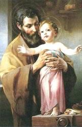 San José - Sujetando al Niño Jesús