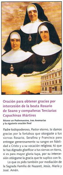 Terciarias Capuchinas - Mártires