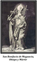 San Bonifacio de Maguncia - Obispo y Mártir