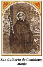 San Guiberto de Gembloux - Monje