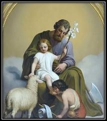 San José - Niño Jesús - San Juan y cordero