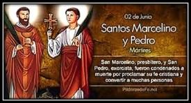 Santos Marcelino y Pedro de Roma - Mártires