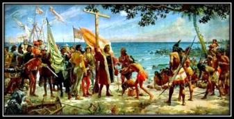 Colón desembarca en las indias