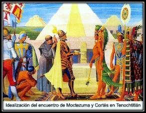 Cortés y Moctezuma