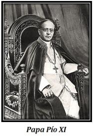 Papa Pío XI - sentado