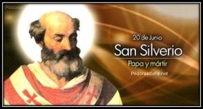 San Silverio - Papa y Mártir