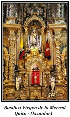 Basílica Virgen de la Merced en Quito (Ecuador)