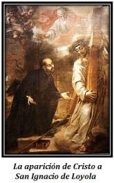 Cristo y San Ignacio de Loyola