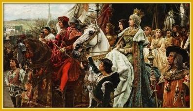 Los Reyes Católicos - montados en caballo