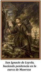 San Ignacio de Loyola - En la cueva de Manresa