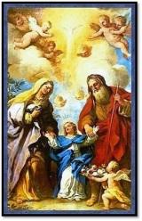 San Joaquin y Santa Ana y la Virgen María