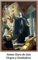 Santa Clara de Asís - Virgen y Fundadora
