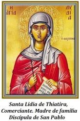 Santa Lidia de Thiatira - Discípula de San Pablo