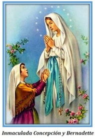Inmaculada Concepción y Bernadette
